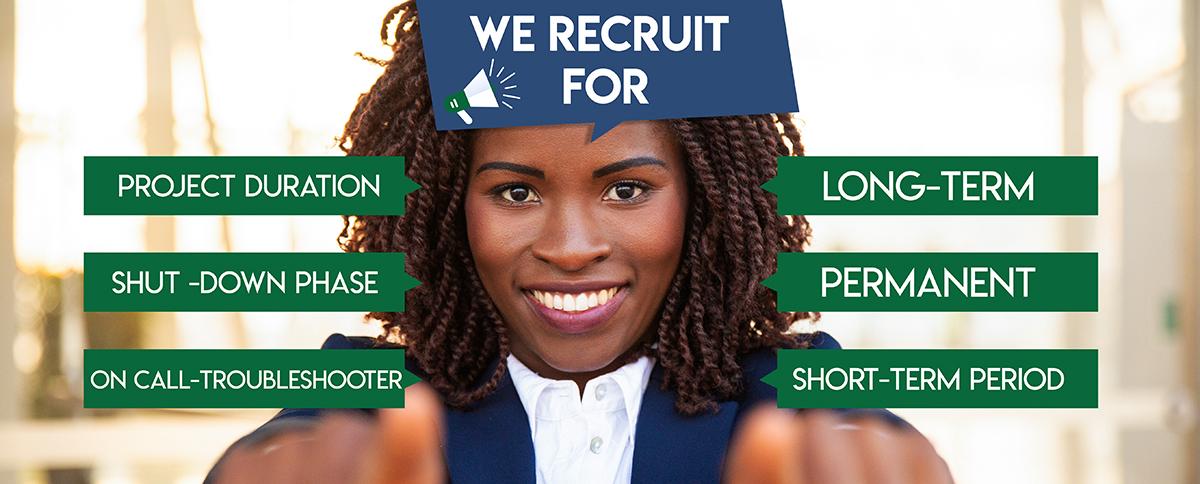 we recrute